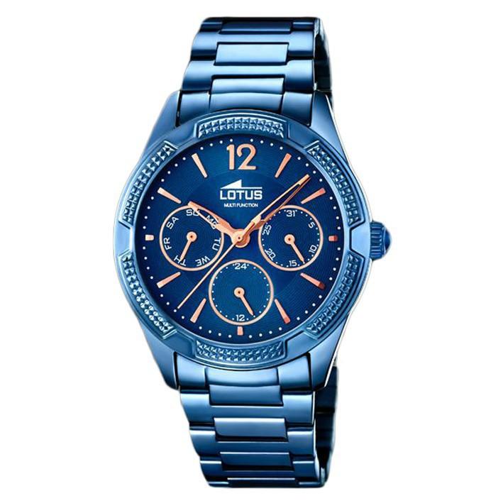e7051f46d09d Reloj Lotus Trendy mujer 18248 2 color azul índices chapados oro rosa