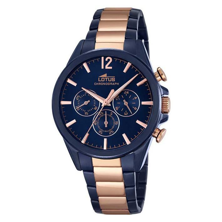 Reloj lotus hombre chapado oro rosa brazalete ip color azul jpg 709x709  Bronce relojes hombre lotus dd3dafe45e4e