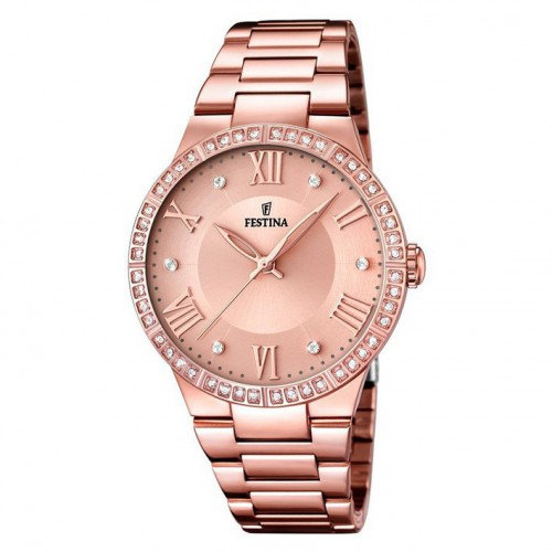 Woman Festina Mademoiselle F16721/2 rose gold plated zircons and pink sphere