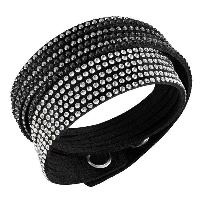Pulsera Slake Black 2 in 1 con piedras negras y transparentes 5142963 d275807c16