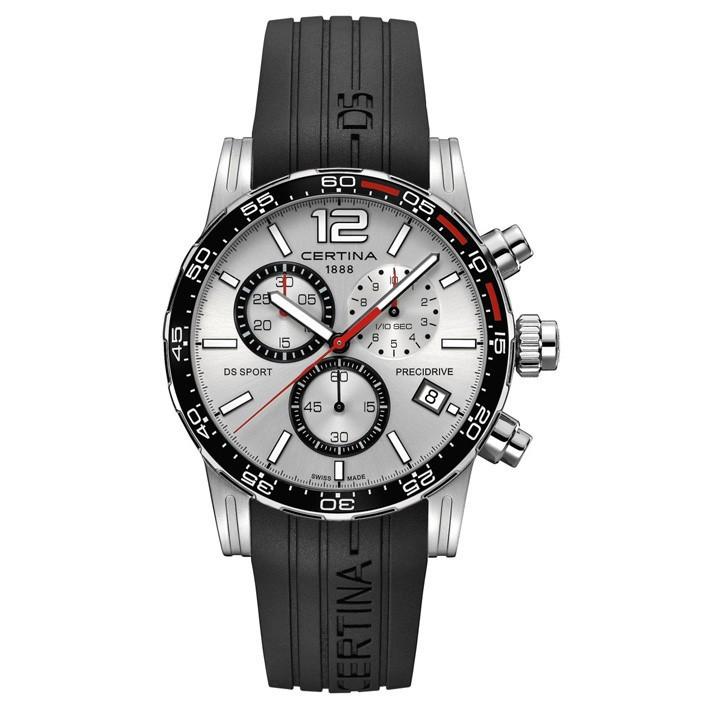 f36788af7a93 Reloj hombre Certina DS Sport Chrono esfera plata C027.417.17.037.00