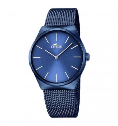 Lotus treatment Milanese bracelet blue 18287/2 blue dial