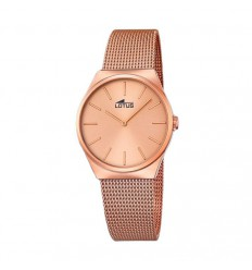 Lotus Lady Watch rose gold plated bracelet pink dial 18289/2