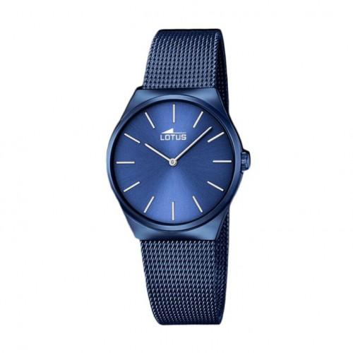 Lotus lady, blue bracelet with IP treatment 18290/2