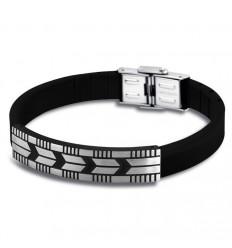 Lotus Style Bracelet rubber LS1729-2/2 black detail and adjustable