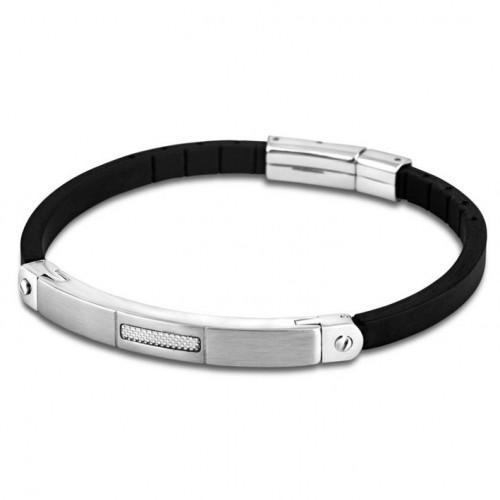 Stainless steel bracelet man Lotus Style LS1731-2/1 rubber bracelet