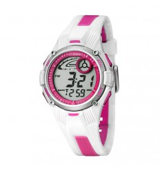 white and pink watch digital Calypso for girl or woman K5558/2