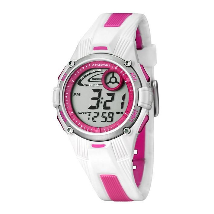 venta minorista 00c77 966be Reloj blanco y rosa digital Calypso para niña o mujer K5558/2