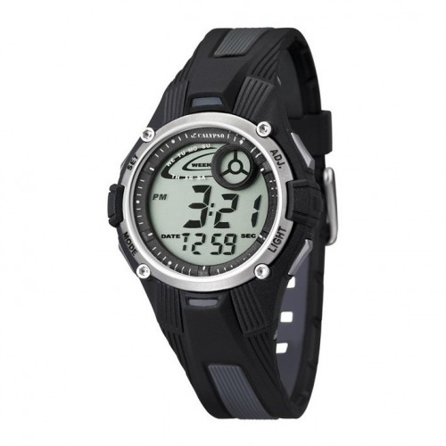 Digital watch K5558/6 Calypso for boys in gray and black color