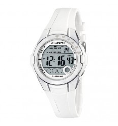 Digital watch for girl or woman Calypso white rubber strap K5571/1