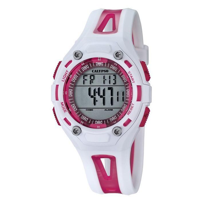 a7a07ef1a5b7 Reloj Calypso sumergible para mujer en color blanco y rosa K5666 3