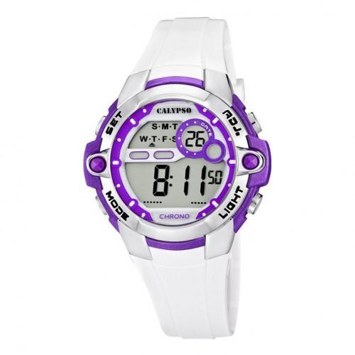 Calypso watch white digital white rubber strap K5617/3