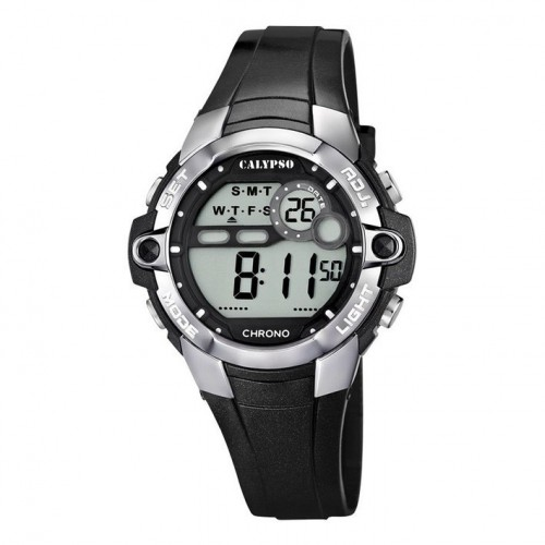 Calypso digital watch K5617/6 black colored rubber strap 40 mm