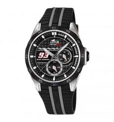 9e3edf23978a Lotus Marc Marquez 18259 4 reloj con correa de caucho esfera negra y gris