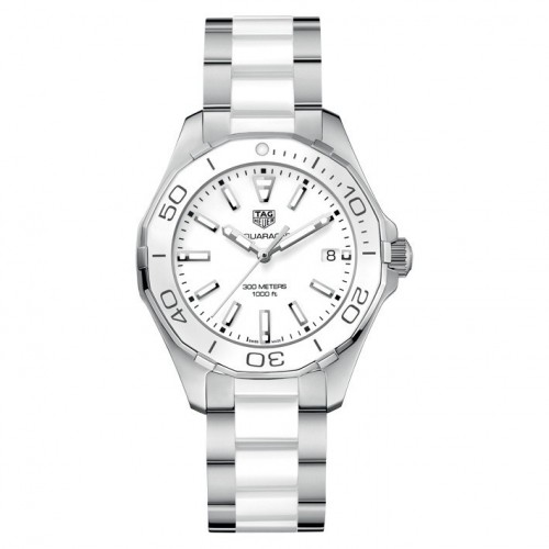 Aquaracer Lady white ceramic and steel Tag Heuer WAY131B.BA0914