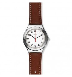 Swatch Silver Stricly stainless steel white dial with numbers YGS131
