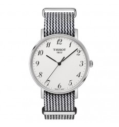 Tissot Everytime steel white dial with numbers T1094101803200