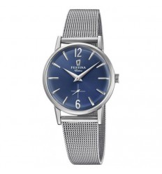 Extra Festina woman F20258/3 watch blue dial Milanese bracelet diameter 29 mm