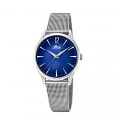 a0c8a4fde315 Reloj Revival mujer 18408 3 Lotus brazalete milanesa esfera azul ...