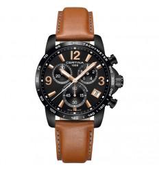 Certina DS Podium watch C0344173605700 black dial diameter 41 mm