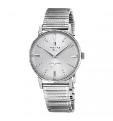 Festina Extra Watch F20250/1 silver dial adjustable elastic bangle