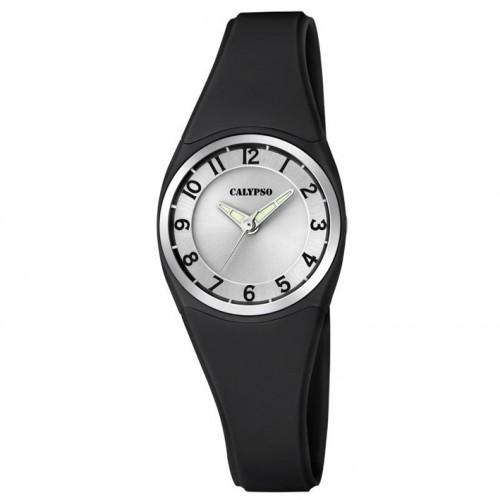 Calypso watch K5726/6 black rubber in quartz diameter 26.00 mm