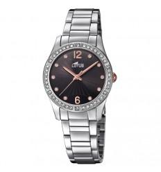 ce15f2529225 Reloj Lotus Bliss mujer esfera negra con detalles en rosado 18383 2