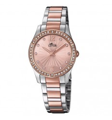 Lotus Bliss Watch for woman with pink-coloured dial and details in pink 18384/2