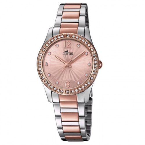 Lotus Grace Watch for woman with pink-coloured dial and details in gold 18384/2