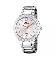 Trendy watch Lotus woman 18410/1 stainless silver dial and pink details