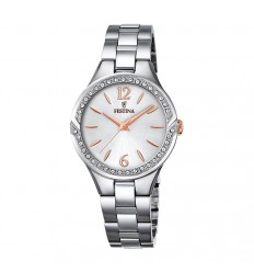 Festina Mademoiselle watch F20246/1 with stainless steel case and silver dial