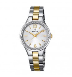 Festina Mademoiselle watch F20247/2 with stainless steel case and silver dial