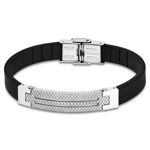 Bracelet for Men Lotus Style LS1797-2/1 rubber and details in silver