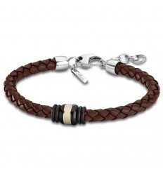 Bracelet for Men Lotus Style LS1814-2/4 of brown leather