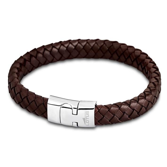 76955e615cd9 Pulsera Hombre Lotus Style LS1701-2 1 de cuero marrón