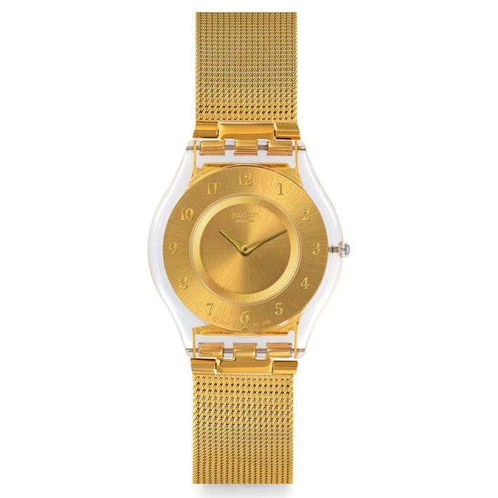 Acero Reloj Skin Y Antialérgico Sfk355m Dorado Swatch Mujer Generosity QCWxEBorde
