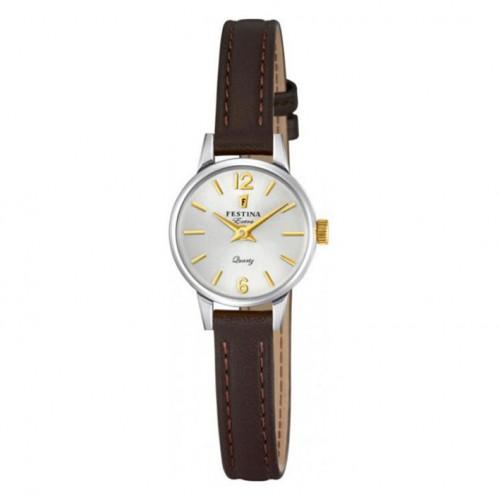 Extra Festina woman F20260/2 silver dial watch diameter 20 mm
