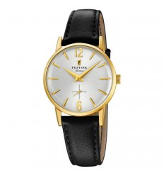Festina Extra Women Watch F20255/1 gold steel case and silver dial