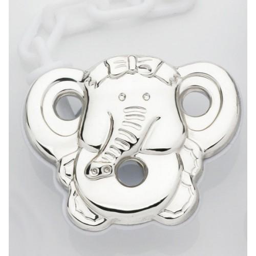 Elephant pacifier clip. 212431