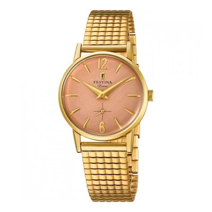 0a2e045af001 Reloj Festina Extra Mujer F20257 2 color dorado y esfera rosada
