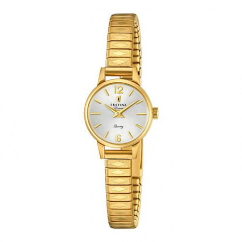 Festina Extra Women Watch F20263/1 silver dial golden case and bracelet