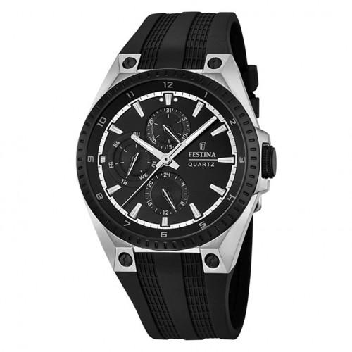 Festina multifunction watch F16834/1 Rubber strap diameter 43 mm