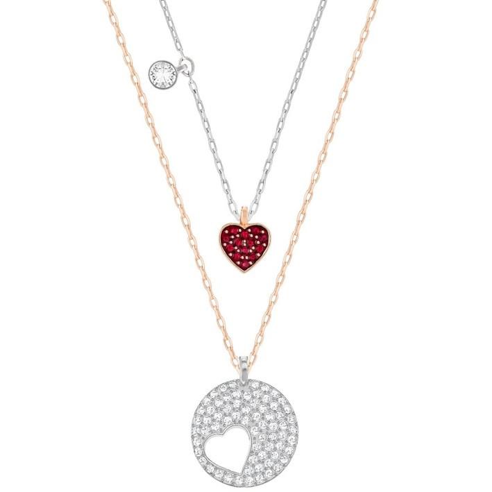 2d0bf429a806 Set colgante Swarovski corazones 5255351 Crystal Wishes Heart