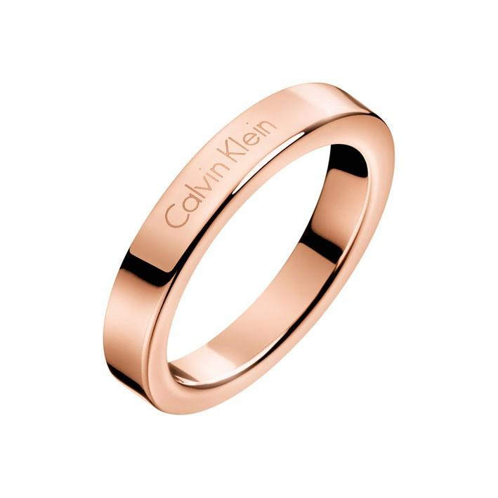 56656379c0c0 Anillo Calvin Klein Hook KJ06PR1001 acero color oro rosa