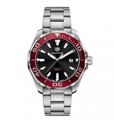 Aquaracer Tag Heuer WAY101B.BA0746 bezel red black dial diameter 43 mm