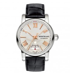 Montblanc Star Watch 105858 automatic silver dial pink indices
