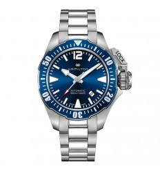 Hamilton Khaki Navy Frogman Bracelet Stainless Steel Blue Dial H77705145