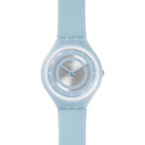 Swatch Skin extra flat watch SVOS100 blue silicone strap SKINCIEL