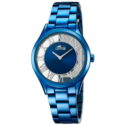 Lotus Trendy watch transparent stainless steel blue treatment 18397/2