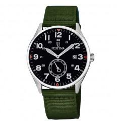 Reloj Festina hombre esfera negra con números correa verde textil F6859 1 e5a72b7cdace